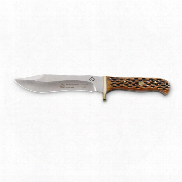 "Puma Sgb Buffalo Hunter Jig Bone Fixedblade Knife, 5.75"" Blade"