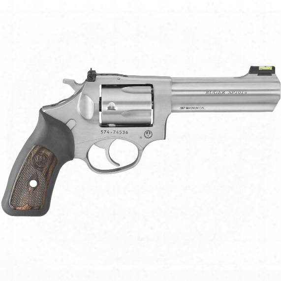 "Ruger Sp101, Revolver, .357 Magnum, Centerfire, 4.20"" Barrel, Fiber Optic Front, 5 Rounds"