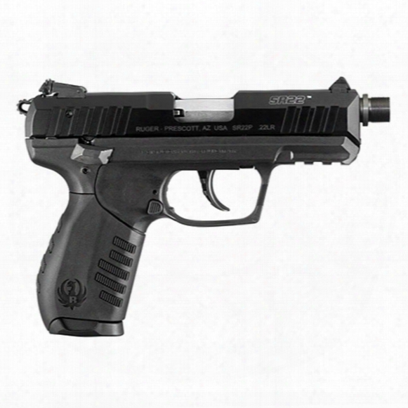 "Ruger Sr22, Semi-automatic, .22lr, Rimfire, 3.5"" Threaded Barrel, 10+1 Rounds"