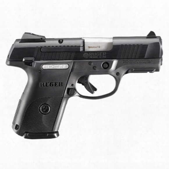 "Ruger Sr9c, Semi-automatic, 9mm, 3.4"" Barrel, 2 Magazines - 17+1 / 10+1 Rounds"