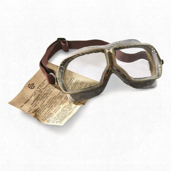 Russian Military Surplus 50s Era Tanker Goggles, New