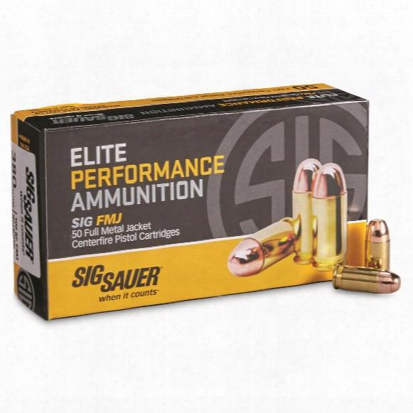 Sig Elite Performance, .380 Acp, Fmj ,100 Grain, 50 Rounds