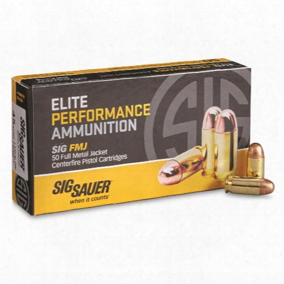 Sig Elite Perfotmance, .45 Acp, Fmj, 230 Grain, 50 Rounds