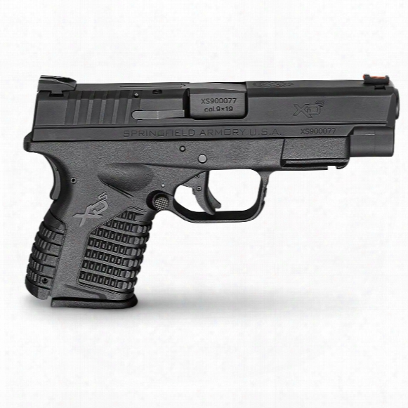 "Springfield Xd-s Single Stack Essentials Package, Semi-automatic,9mm, 4"" Barrel, 7+1/8+1 Rounds"