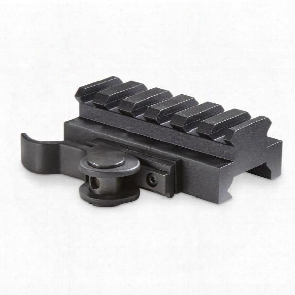 Aimshot Quick Release 60mm Picatinny Rail Adapter, 14mm Profile
