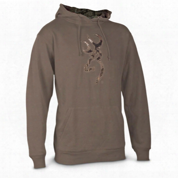 Browning Men's Applique Buckmark Hoodie Sweatshirt