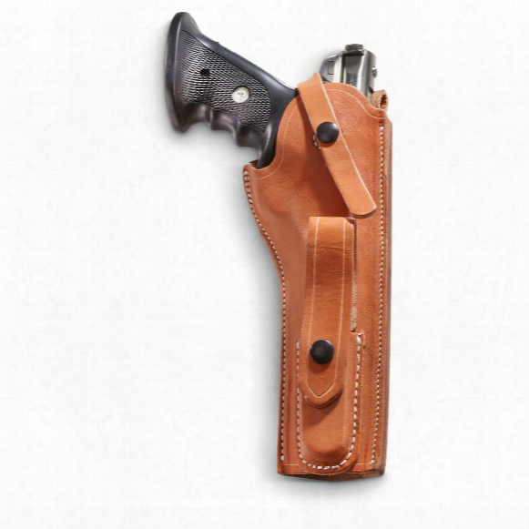 "Classic Old West Styles Pro Shooter Leather Holster, Ruger Mk 1/2/3, 6"" Barrel"
