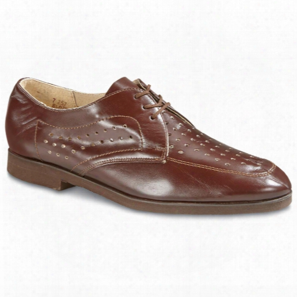 Czech Military Surplus Leather Vented Service Shoes, New