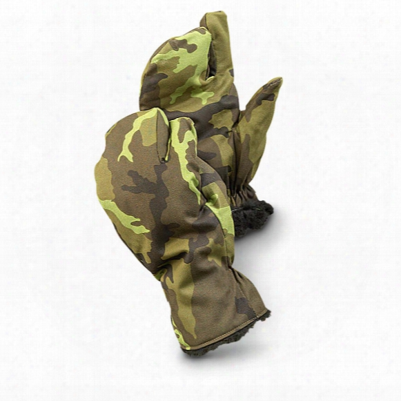 Czech Military Surplus M95 Camo Trigger Mitts, 3 Pack, Like-new