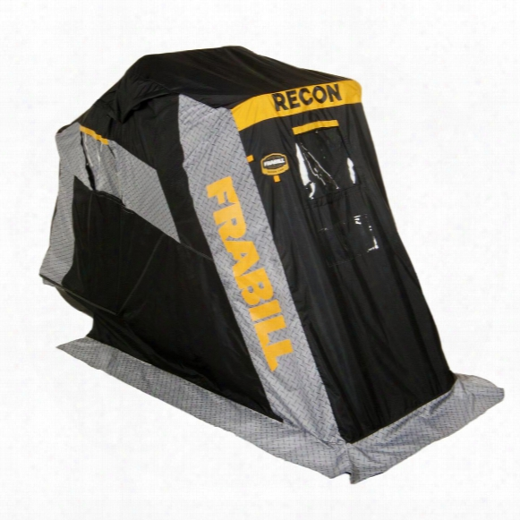 Frabill Recon 100 Ice Fishing Shelter, Flip Over, Single Person