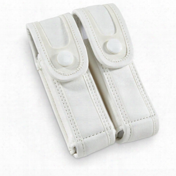 French Military Surplus Police Double Magazine Pouches, 10 Pack, New