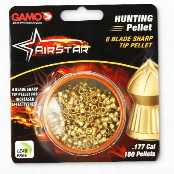 Gamo Airstar Air Rifle Hunting Pellets, .177 Caliber, 150 Count