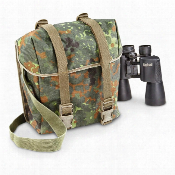 German Military Issue Flecktarn Camo Shoulder Bags, 2 Pck, Used