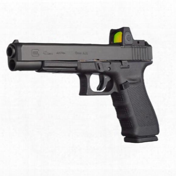 "Glock 40 Gen 4, Semi-automatic, 10mm, 6.02"" Barrel, Modular Optics System, 15+1 Rounds"