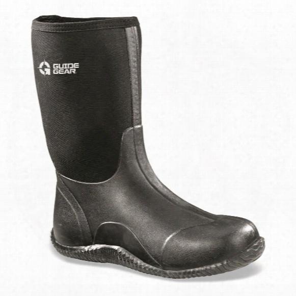 Guide Gear Men's Mid Bogger Waterproof Rubber Boots, Black