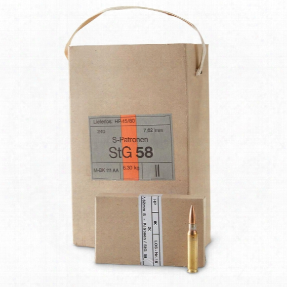 Hirtenberger, .308 (7.62x51mm), Fmj, 147 Grain, 240 Rounds