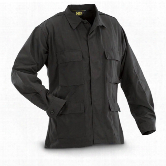 Hq Issue Men's Military-style Ripstop Bdu Shirt