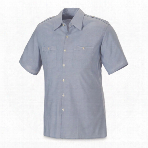 Italian Military Surplus Short Sleeve Dress Shirts, 2 Pack, New