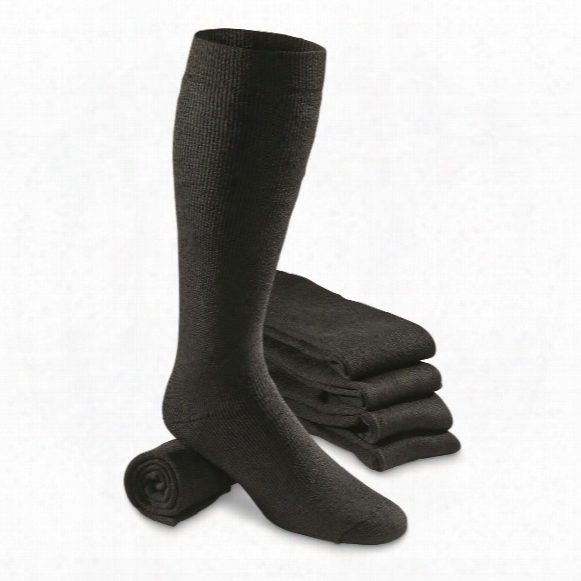 Italian Military Surplus Wool Boot Socks, 5 Pack, New