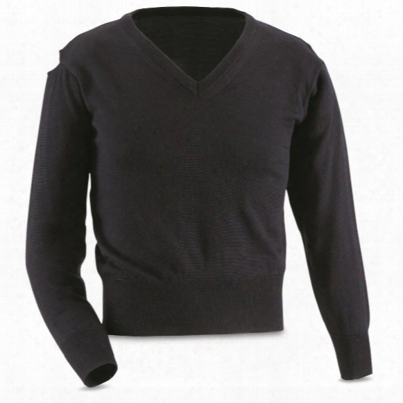 Italian Police Surplus V-neck Sweaters, 2 Pack, New