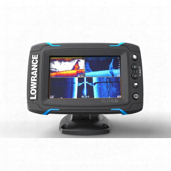 Lowrance Elite-5 Ti Touchscreen Sonar Fish Finder With Downscan Transducer