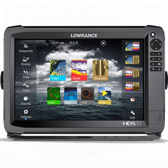 Lowrance Hds-12 Ge3 Sonar Fish Finder With  Insight Usa 83 / 200 Lss-2 Transducer