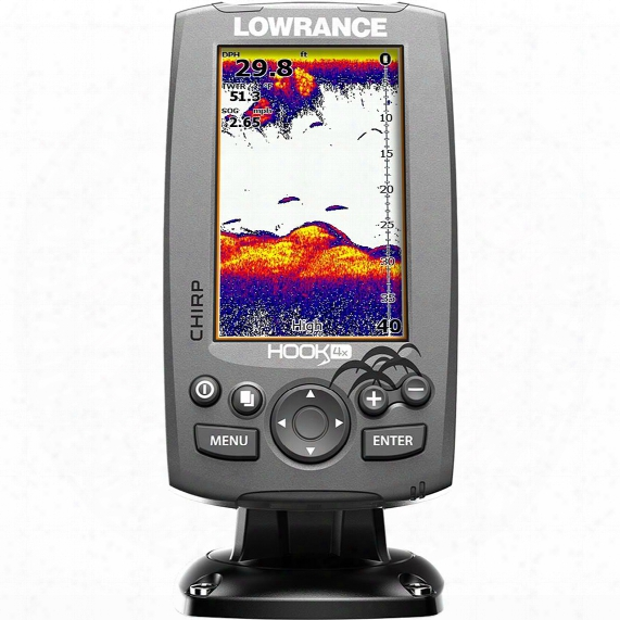 Lowrance Hook-4x Sonar Fish Finder With Downscan Transducer