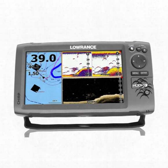 Lowrance Hook-9 Sonar Fish Finder / Chartplotter With Downscan Transducer