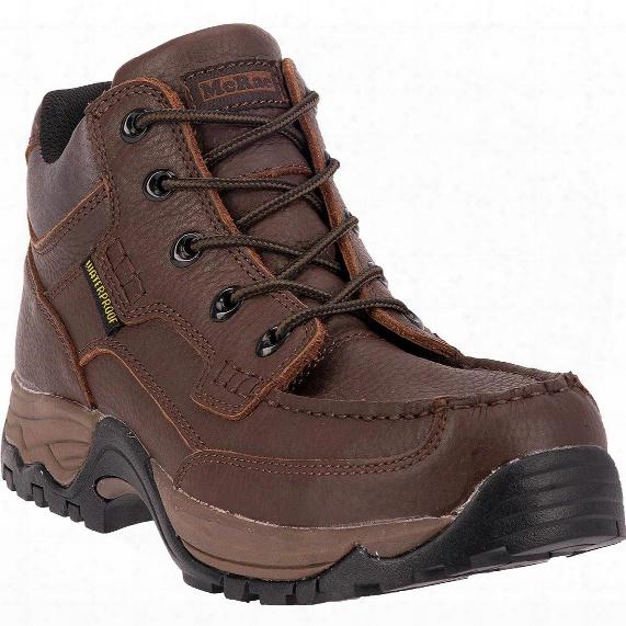 """Mcrae 5"""" Waterproof Moc Toe Work Boots, Brown"""