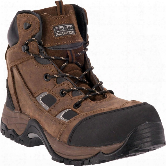 Mcrae Puncture Proof Composite Toe Work Boots, Brown Crazyh Orse
