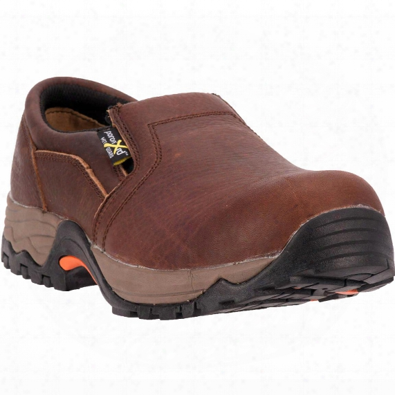 Mcrae Twin Gore Composite Toe Met Guard Slip-on Work Shoes, Brown