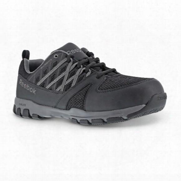 Men's Reebok Sublite Steel Toe Work Shoes, Black/gray