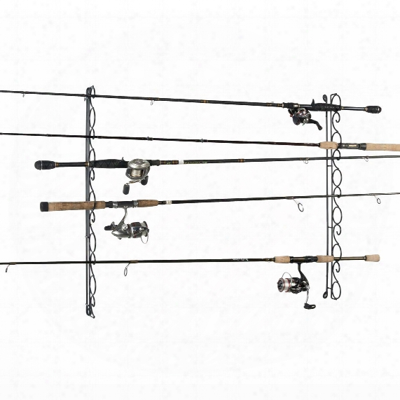 Organized Fishing 9-capacity Wire Horizontal Ceiling Rack