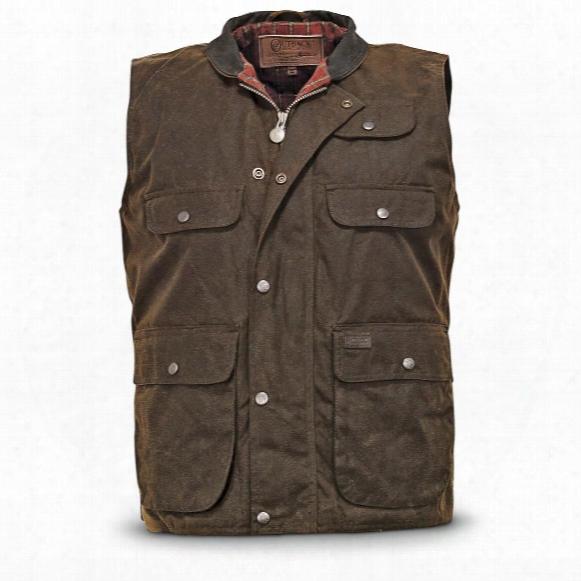 Outback Trading Overlander Waterproof Oilskin Vest, Bronze