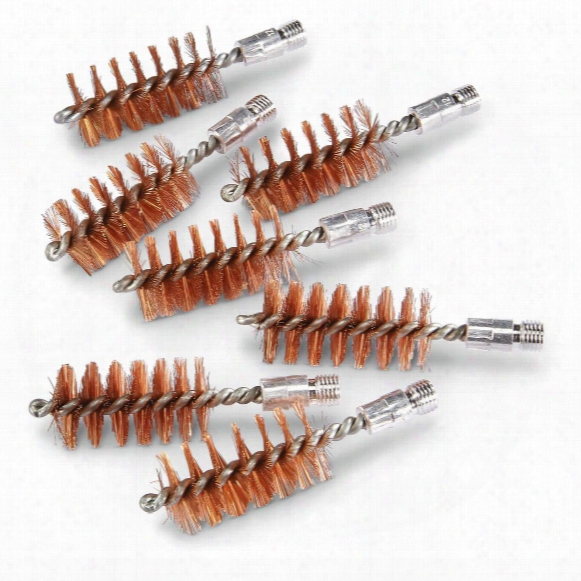 Phosphorous Bronze Bore Brushes, 12 Gauge 8/32 Threads, 7 Pack