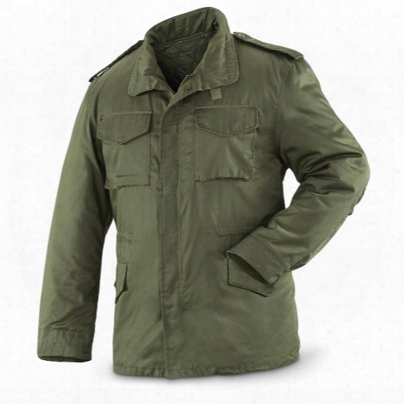 Spanish Military Surplus Button-in Liner M65 Jacket, New