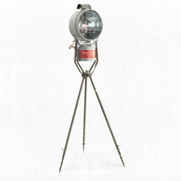 Swiss Military Surplus Tilley Floodlight With Tripod, Used