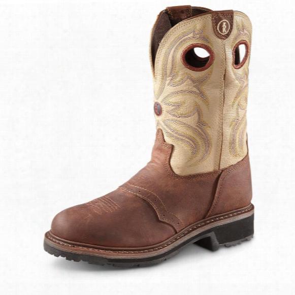Tony Lama Men's 3r Cowboy Work Boots, Steel Toe, Waterproof, Sienna Grizzly