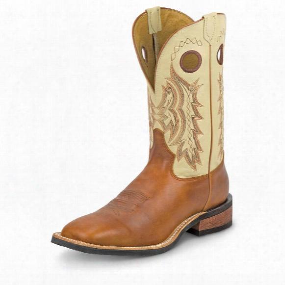 Tony Lama Men's Americana Suntan Rebel Western Cowboy Boots