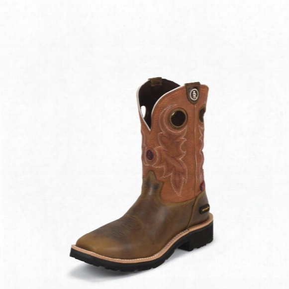 Tony Lama Tan Comanche 3r Work Boots, Rr3300, Composite Toe, Waterproof