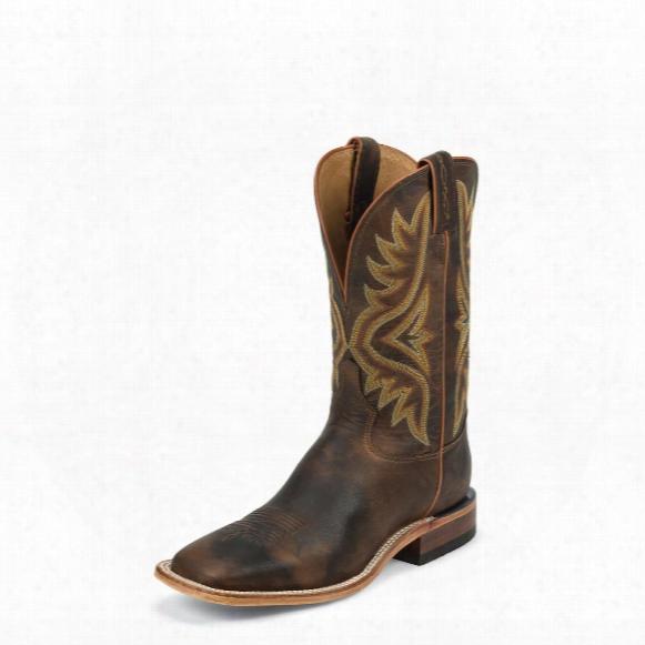"Tony Lama Tan Worn Goat Americana Cowboy Boots, 11"", 7956"