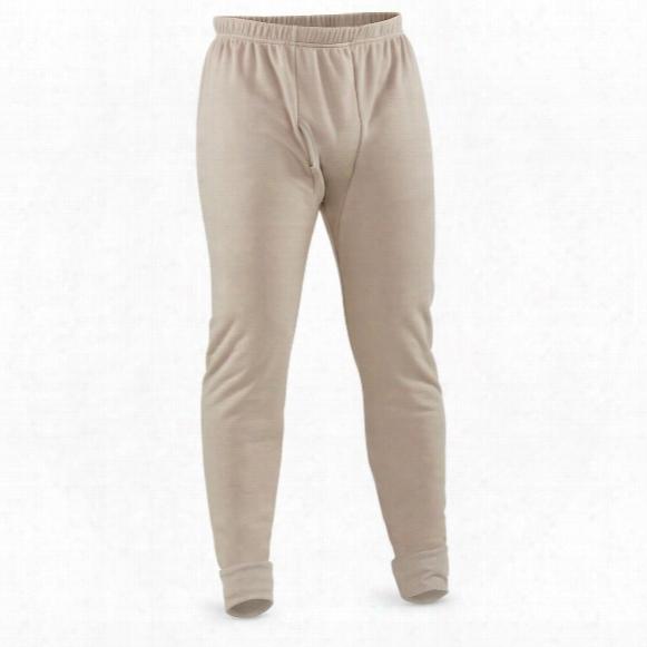 U.s. Military Surplus Fleece Base Layer Pants, New
