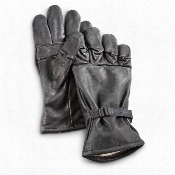 U.s. Military Surplus Leather Intermediate Wet Weather Work Gloves, New