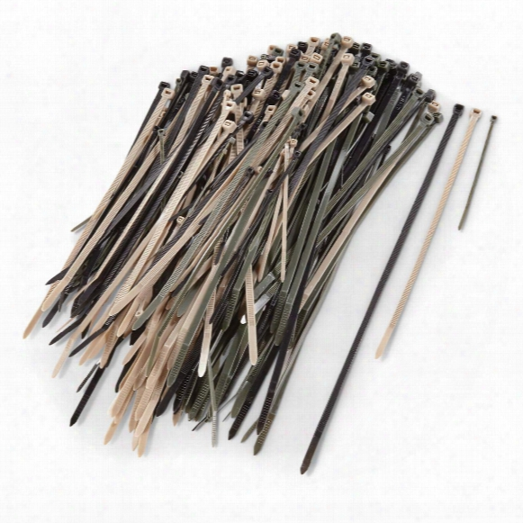 U.s. Military Surplus Plastic Cable Tie Variety Pack, 200 Pack, New