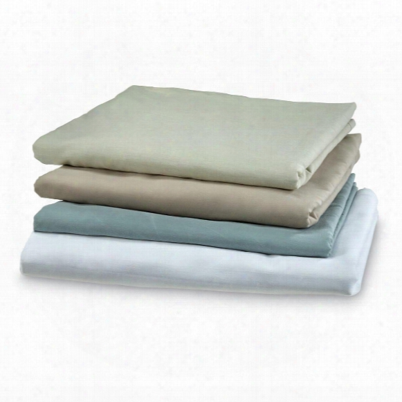 U.s. Military Surplus Twin Hospital Bed Flat Sheets, 4 Pack, Used