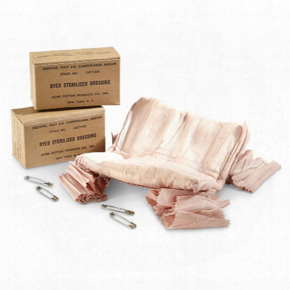 U.s. Military Surplus Wwii Medium Field Dressing Packs, 2 Pack, New
