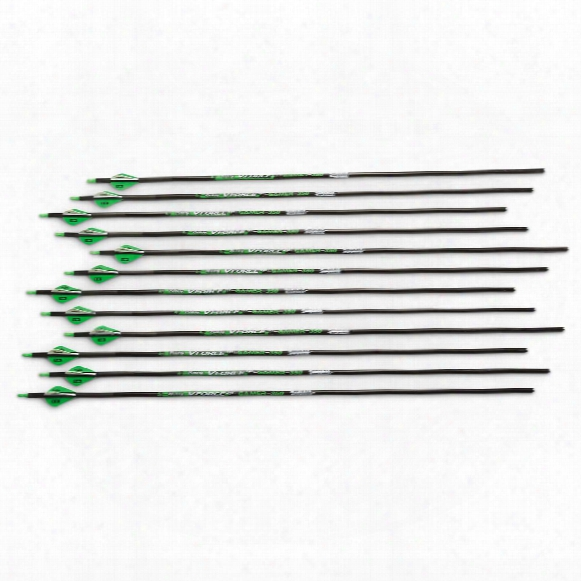 "Conquest V-force Gamer Carbon Fiber .003 Arrows, .350"", 12 Pack"