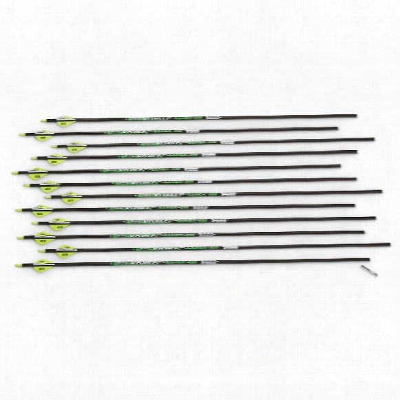"Victory V-force Gamer Carbon Fiber .003 Arrows, .400"", 12 Pack"