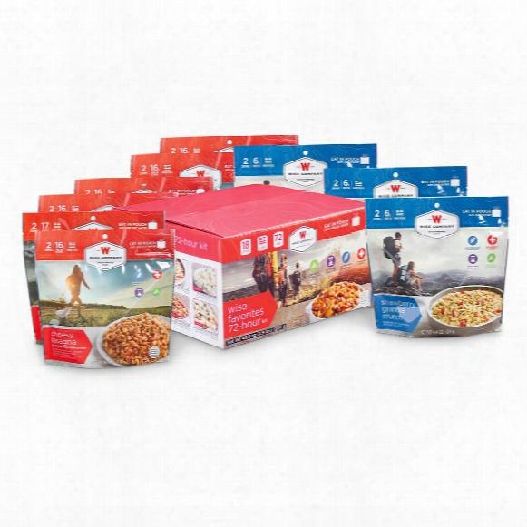 Wise 72 Hour Emergency Food Kit, 9 Pack, 18 Servings