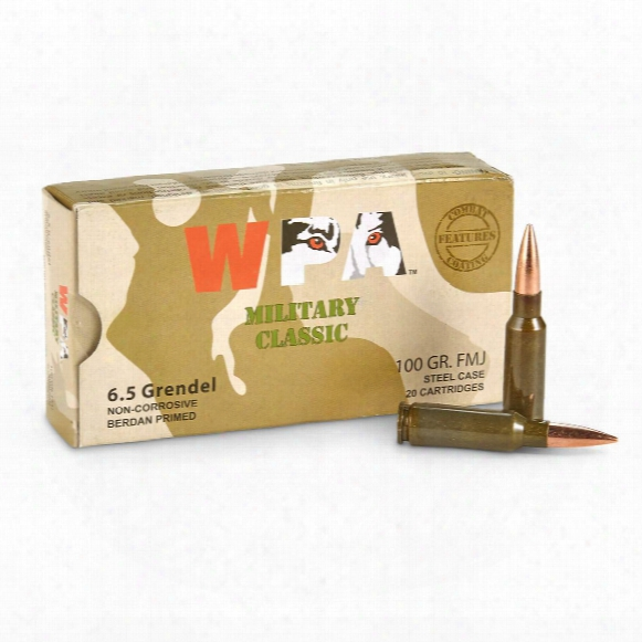Wolf Military Classic, 6.5 Grendel, Fmj, 100 Grain, 240 Rounds